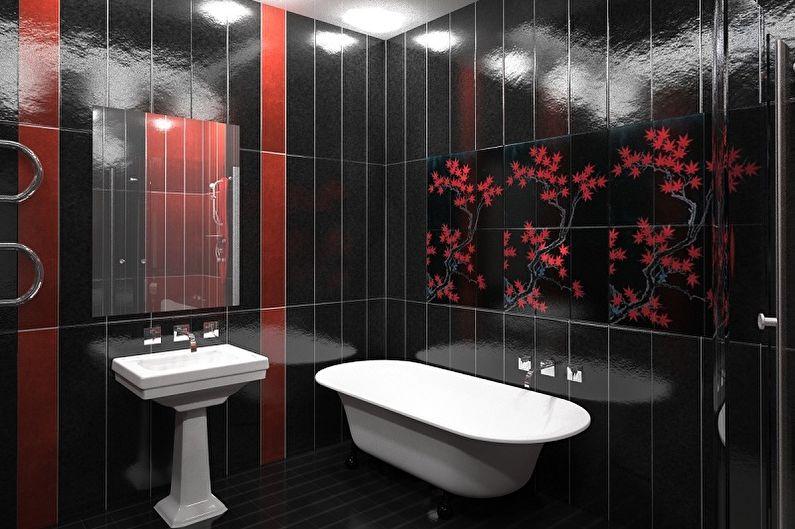Черная ванная комната - дизайн интерьера фото