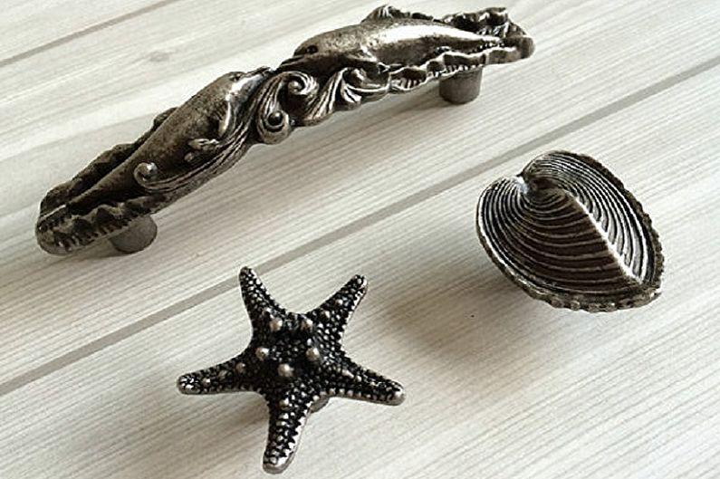 Виды ручек для кухонной мебели - Нестандартные типы ручек