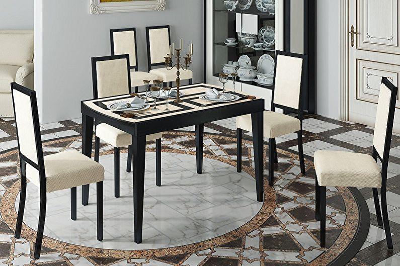Обеденный стол с четырьмя ножками