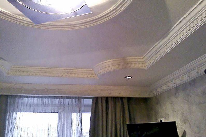 Виды плинтусов для натяжного потолка - Эластичные галтели