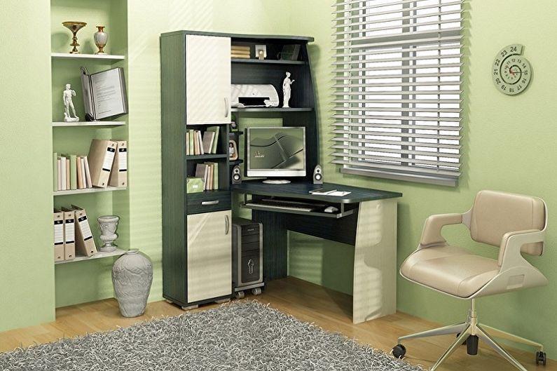 Угловые компьютерные столы - фото