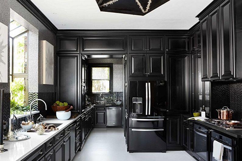 70+ идей дизайна черной кухни (фото)