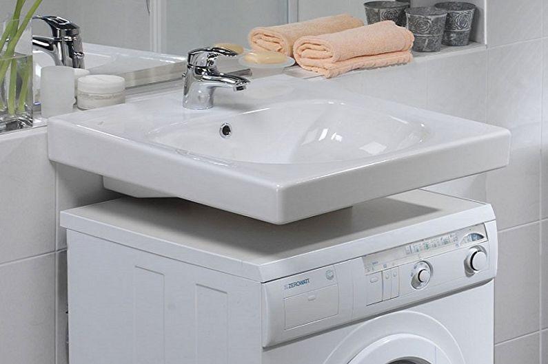 Раковина над стиральной машиной (60 фото): виды, как выбрать