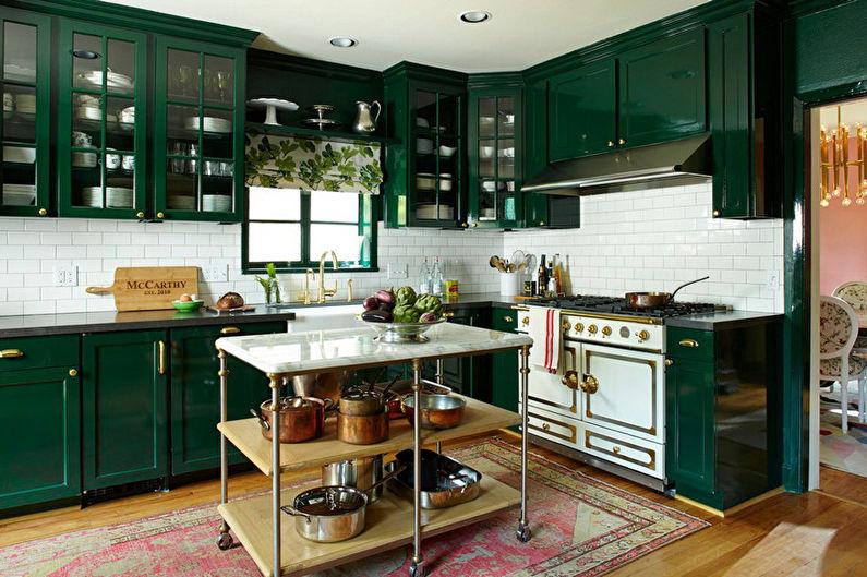 Зеленая кухня: идеи дизайна (75 фото)