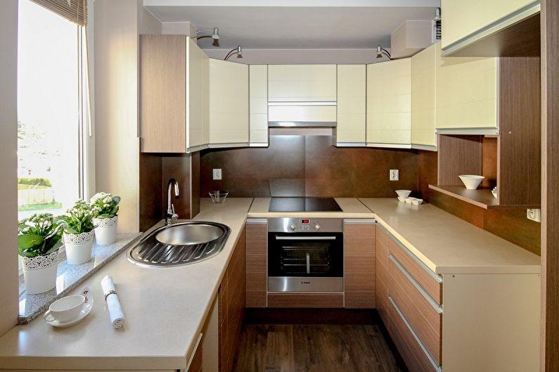 Кухонный гарнитур для маленькой кухни (60 фото)