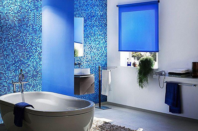 Синяя ванная комната: 75 идей дизайна (фото)