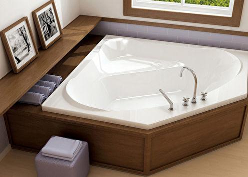 Угловые ванны (75 фото): виды, размеры и формы