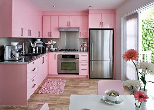 Кухня в розовом цвете: 80 идей дизайна