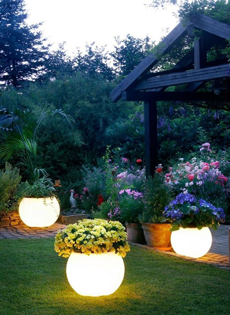 Украшения для сада своими руками - Освещение