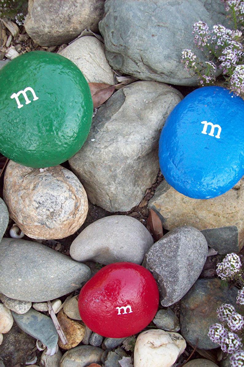 Украшения для сада из камней своими руками