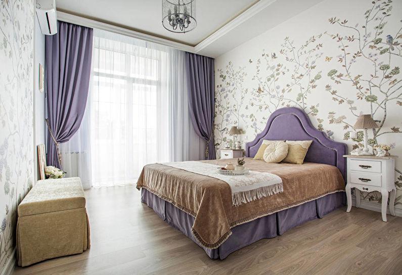 Белая спальня в классическом стиле - Дизайн интерьера