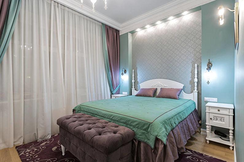 Дизайн маленькой спальни в классическом стиле - Светлые цвета