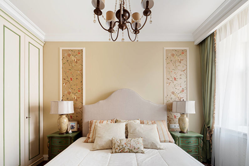 Дизайн маленькой спальни в классическом стиле - Минимум узоров