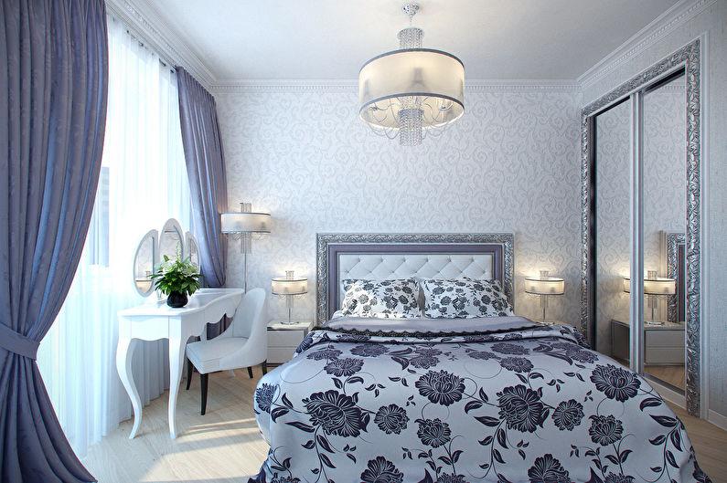 Дизайн маленькой спальни в классическом стиле - Эффективное использование пространства