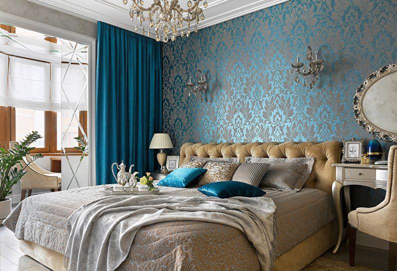 Дизайн интерьера спальни в классическом стиле - фото