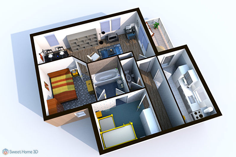 Sweet Home 3D - Бесплатные программы для дизайна интерьера