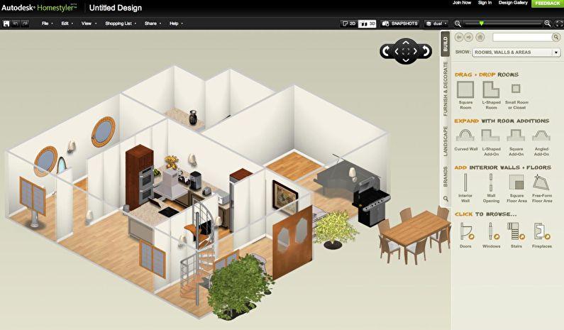 Homestyler - Бесплатные программы для дизайна интерьера