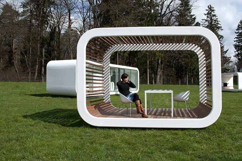 Необычные идеи садовых беседок - фото