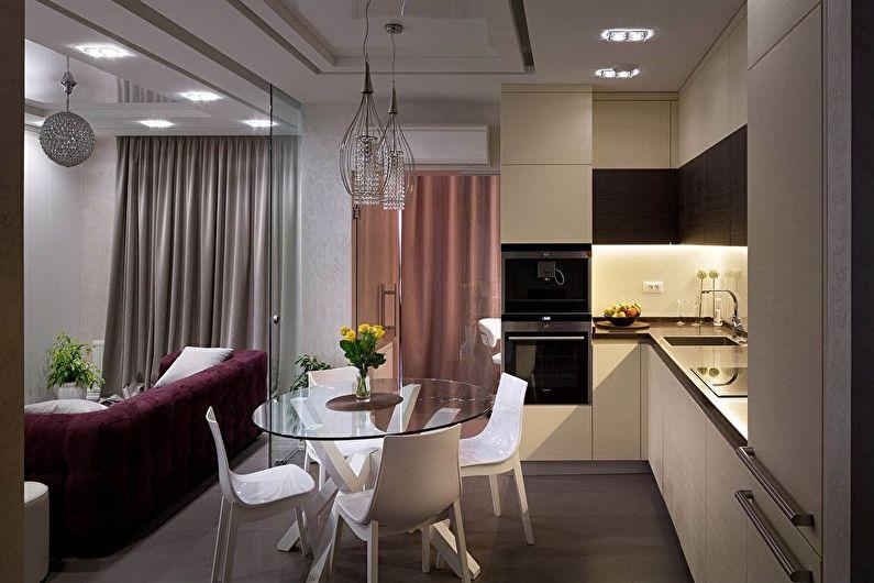 Зонирование кухни-гостиной - Перегородки