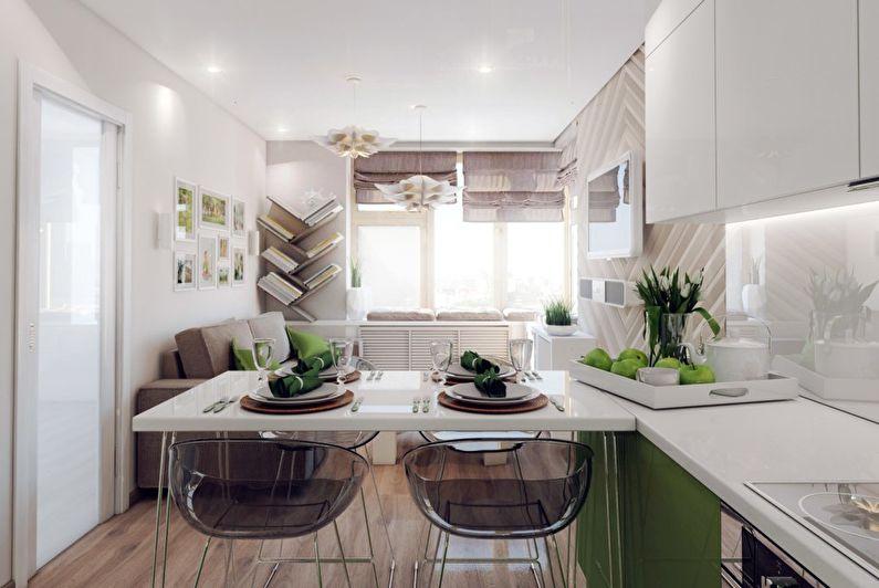 Дизайн кухни-гостиной в маленькой квартире - Текстуры