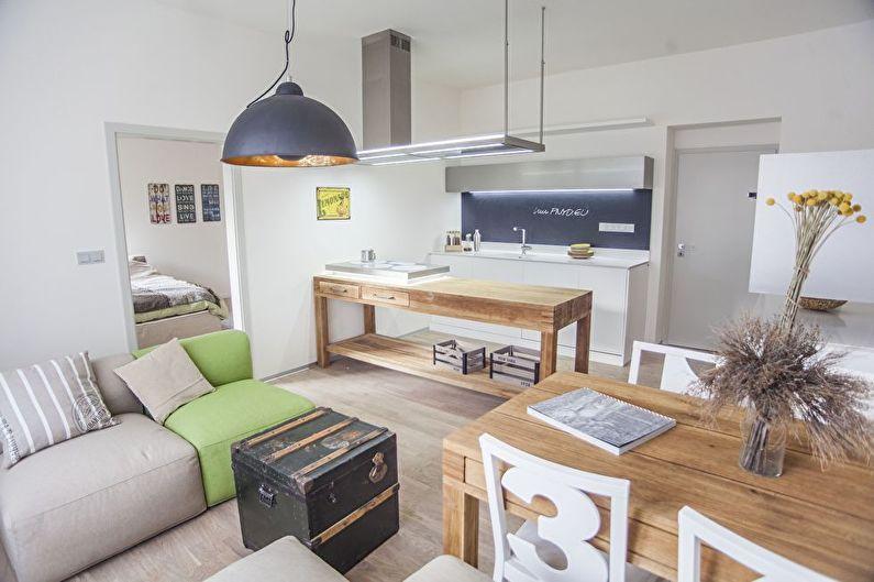Кухня-гостиная в скандинавском стиле - Дизайн интерьера
