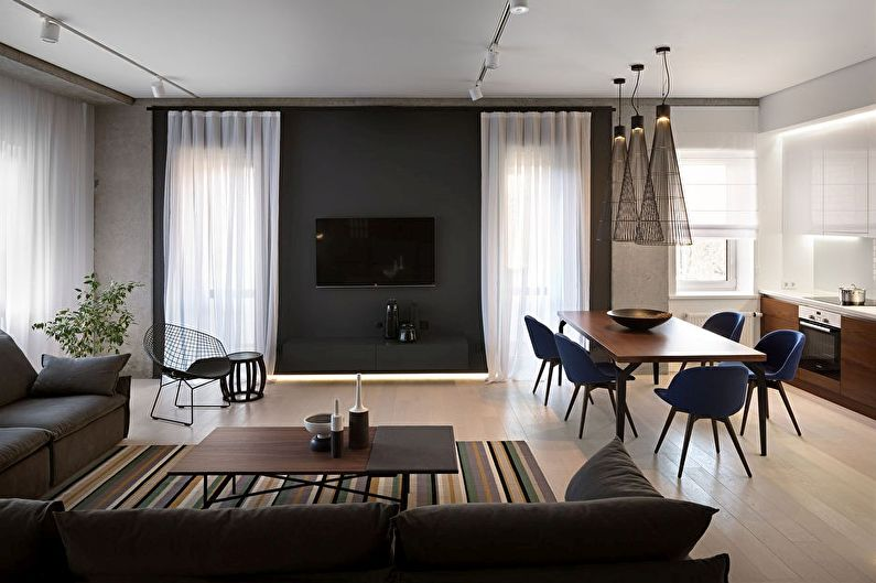 Дизайн кухни, совмещенной с гостиной - Полезные советы