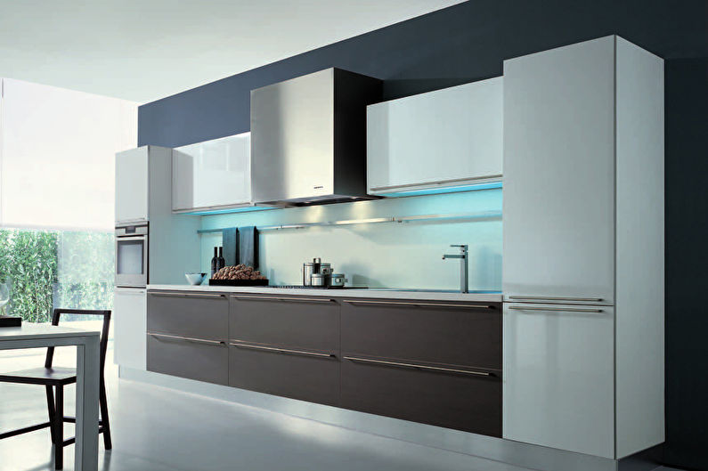 Встроенная кухня в стиле минимализм - Дизайн интерьера