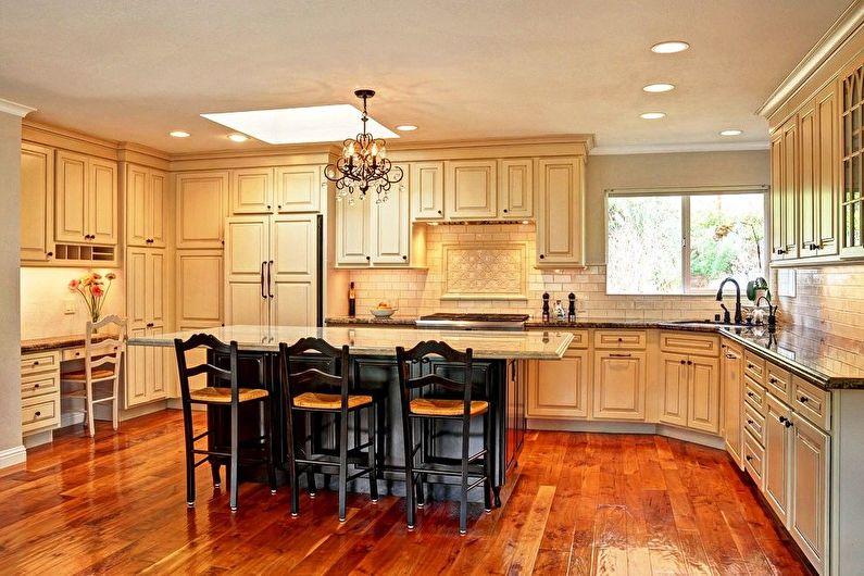Встроенная кухня в классическом стиле - Дизайн интерьера