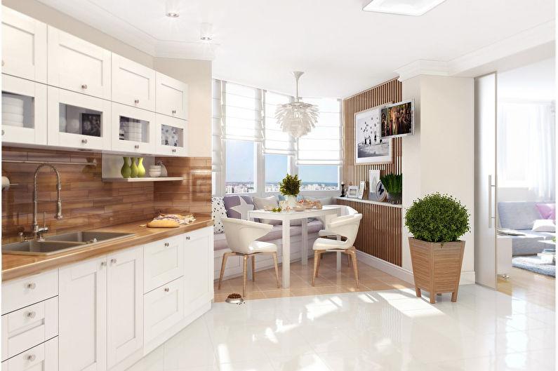 Встроенная кухня в скандинавском стиле - Дизайн интерьера