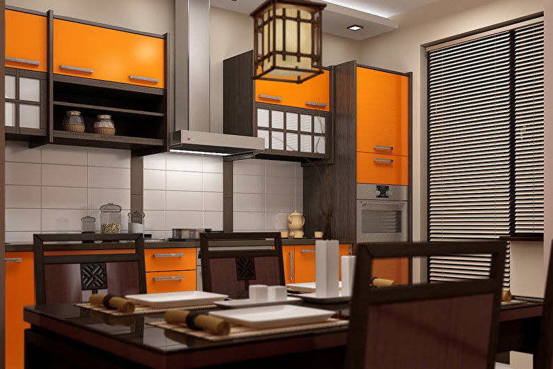 Встроенная кухня в японском стиле - Дизайн интерьера
