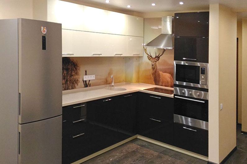 Маленькая встроенная кухня - Дизайн интерьера
