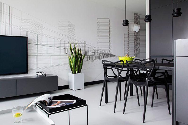 Мебель для черно-белого интерьера