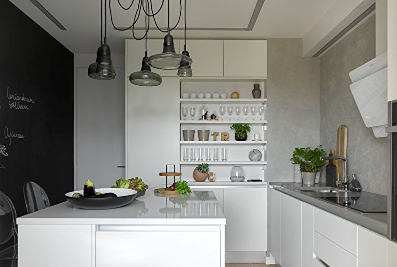 Черно-белый и серый - Сочетание цветов в интерьере