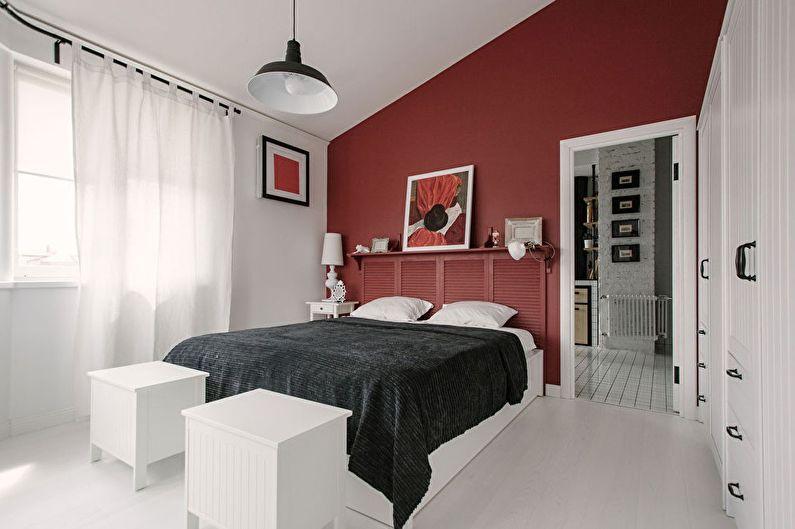 Черно-белый и красный - Сочетание цветов в интерьере