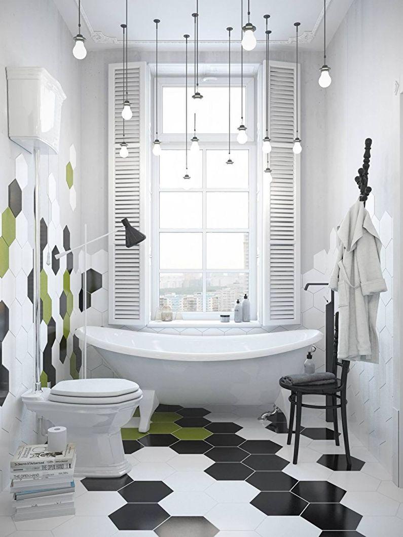Черно-белый и зеленый - Сочетание цветов в интерьере