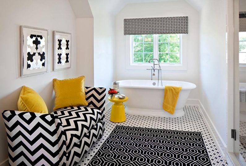 Черно-белый и желтый - Сочетание цветов в интерьере