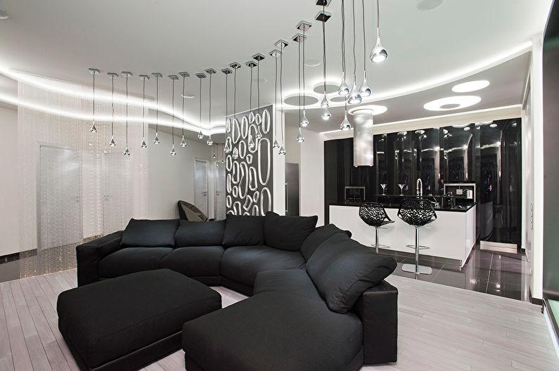 черно белый цвет в интерьере 90 фото дизайна интерьеры комнат