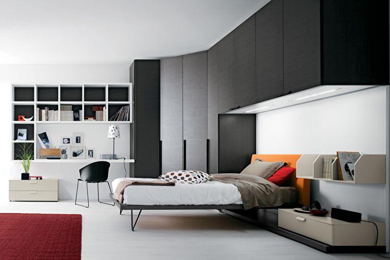 Дизайн интерьера детской комнаты в черно-белых тонах - фото