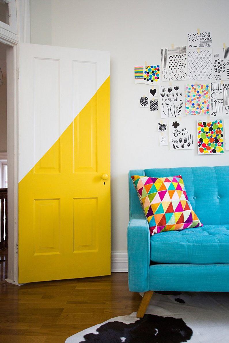 Декор старых дверей своими руками - Покраска