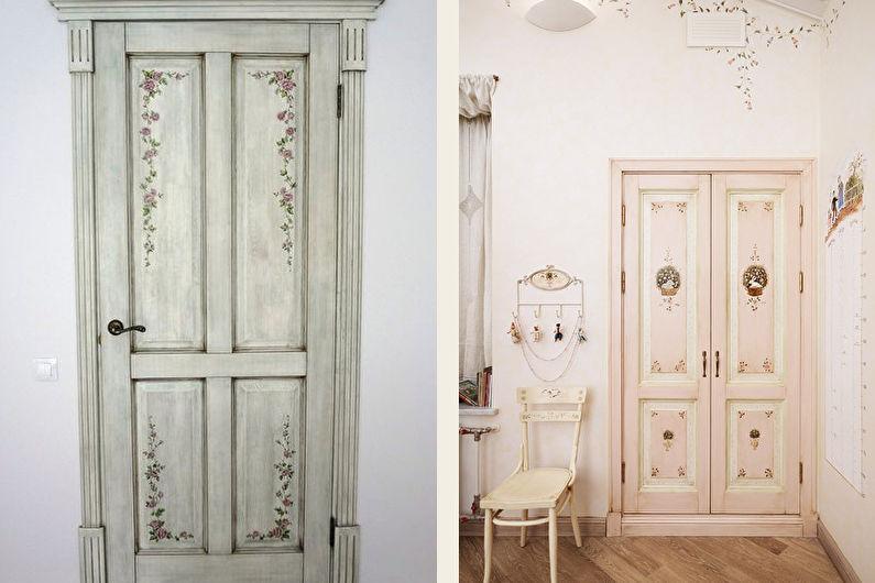 Декор старых дверей своими руками - Декупаж