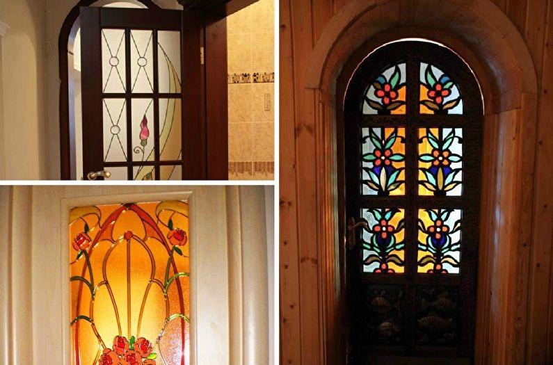 Декор старых дверей своими руками - Витраж
