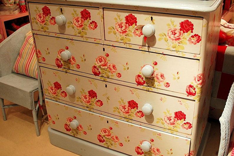 Декор старого шкафа своими руками - Декупаж
