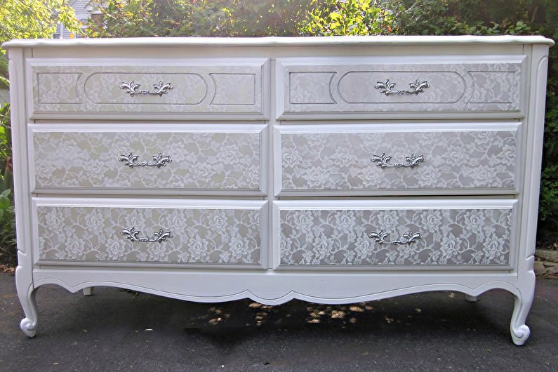 Декор старого шкафа своими руками - Ткань