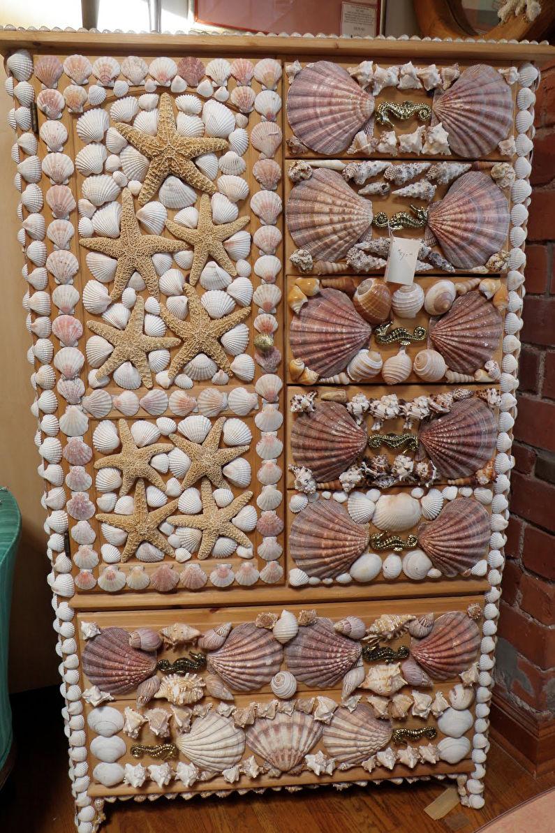 Декор старого шкафа своими руками - Мозаика