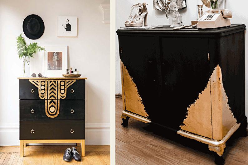 Декор старого шкафа своими руками - Позолота