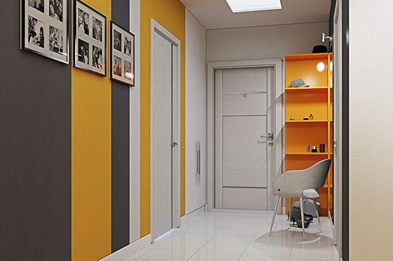 Оранжевая прихожая в хрущевке - Дизайн интерьера