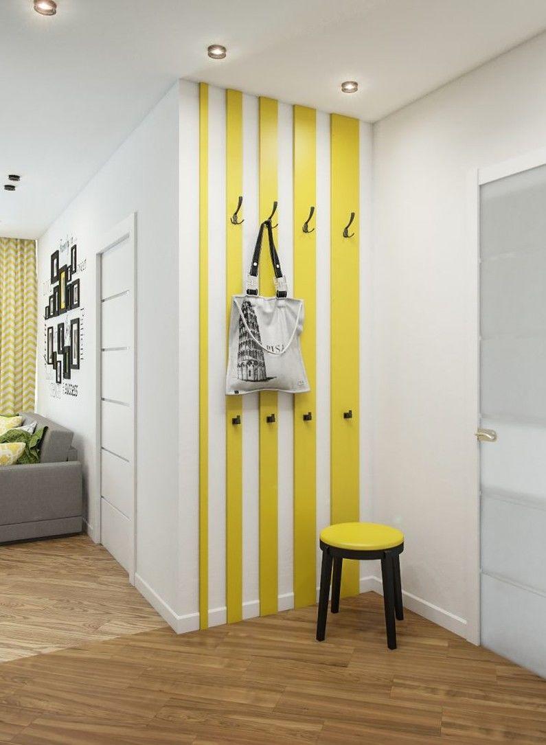 Желтая прихожая в хрущевке - Дизайн интерьера
