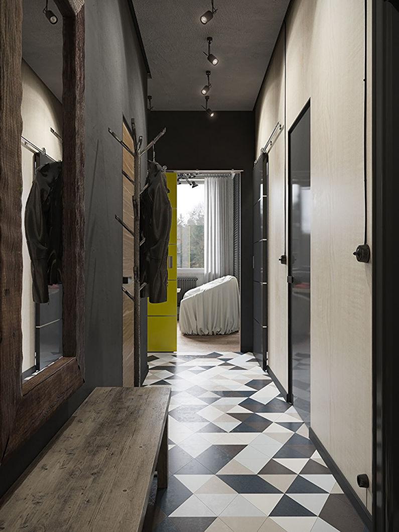 Дизайн маленькой прихожей в хрущевке - Отделка стен