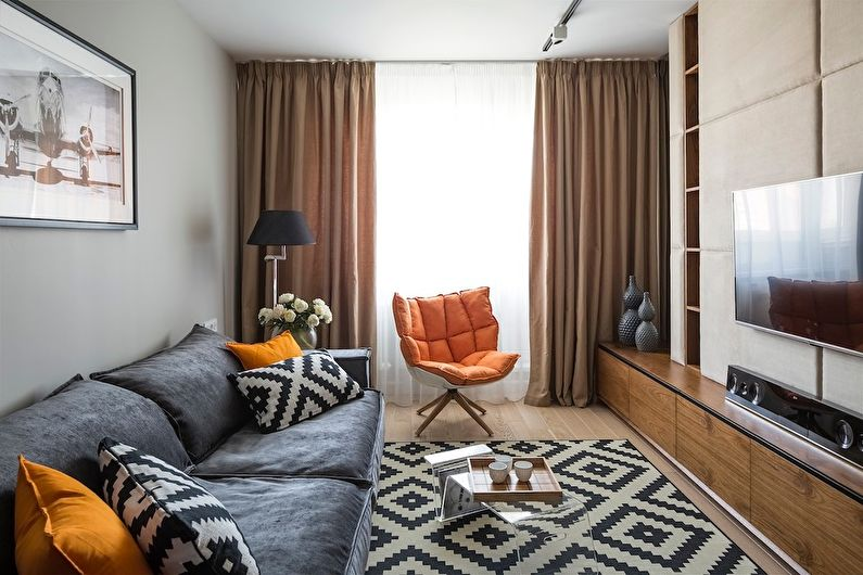 Шторы для маленькой гостиной - Целостная картинка