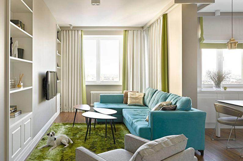 Шторы для маленькой гостиной - Высота потолка